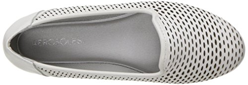 Aerosoles Frauen Smart Move Flat Weißes Leder