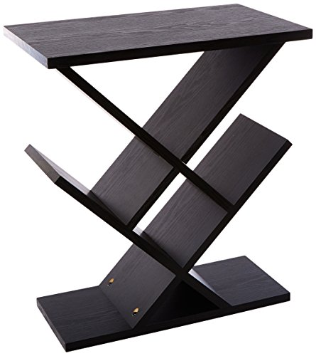 Adesso Shelf - Adesso WK4614-01 Zig-Zag Accent Table - Table Bookshelf - Storage Side Table. Home Furnishings Decor