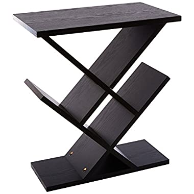 Adesso WK4614-01 Zig-Zag Accent Table, Black