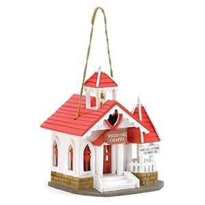 Gifts & Decor Wedding Chapel Wooden Bird House