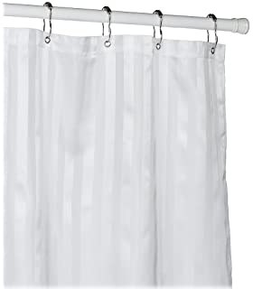 All Ware Croscill Fabric Shower Curtain Liner White