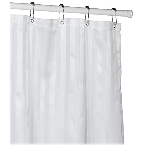 Perfect Croscill Fabric Shower Curtain Liner, 70 Inch By 72 Inch, White