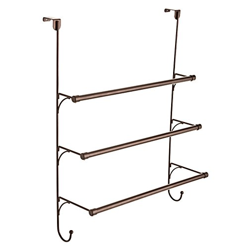 Franklin Brass 193153-CBZ Over-Door Triple Towel Rack, -