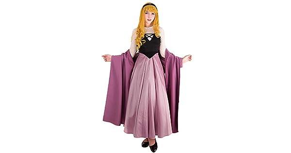 Amazon.com: Cosplay.fm Vestido de princesa Aurora Cosplay ...