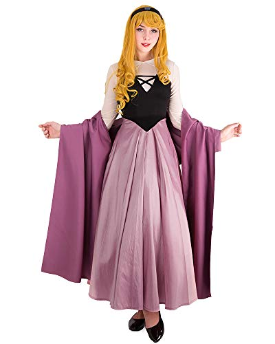 Cosplay.fm Women's Princess Aurora Cosplay Costume Dress,Pink,Large