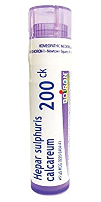 Boiron Hepar Sulphuris Calcareum 200C, 80 Pellets, Homeopathic Medicine for Cough