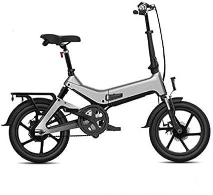 Acptxvh Bicicleta eléctrica, Bicicleta Plegable eléctrica para Adultos 250W 36V con Pantalla LCD 16Inch neumáticos Ligera 17,5kg / 38.58Lbs Adecuado para Hombres Mujeres Ciudad de Tráfico,Gris: Amazon.es: Deportes y aire libre