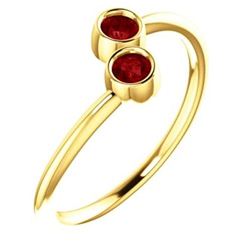Gold Chatham Ruby Ring - 1