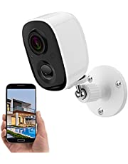 1080P Outdoor WiFi Wireless Security Camera with AI Auto PIR Detection Person/Baby/Pet, Rechargeable Smart Waterproof Indoor Camera, Surveillance System with Night Vision, 2-Way Talk,Cloud/ TF Storage