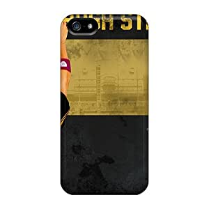Protective Hard Phone Cover For Iphone 5/5s (ZQa8454vOUZ) Support Personal Customs Realistic Pittsburgh Steelers Image