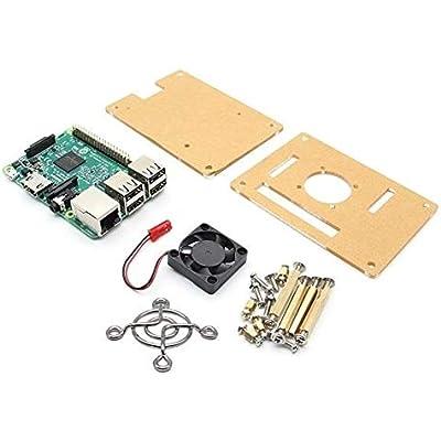 ZhanPing Raspberry Model Fan V34 Acrylic Case Arduino compatible