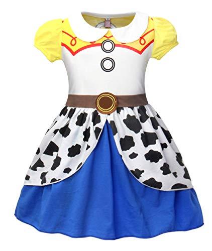 MetCuento Girls Dress Jessie Costume Toddler Cowgirl Dress