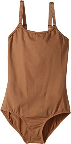 Bloch Girl's Nylon Adjustable Straps Leotard, Almond, 8-10 Strap Almond