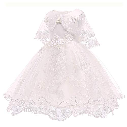 Children's Dress 2018 3 4 5 6 7 8 Years Old Lace Color Matching Girls Princess Party Dress Summer Baby Tutu,White,9 -