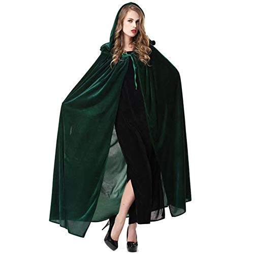 Rulercosplay New Halloween Cloak Witch Hoodies Cosplay Costume (Green)]()