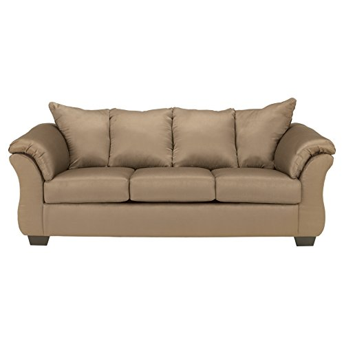 Ashley Furniture Signature Design - Darcy Contemporary Microfiber Sofa - Mocha (Furniture Ashley Covers Cushion Replacement)