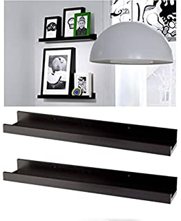 modern picture or frame floating ledge 21 34 black 2 pack by ikea