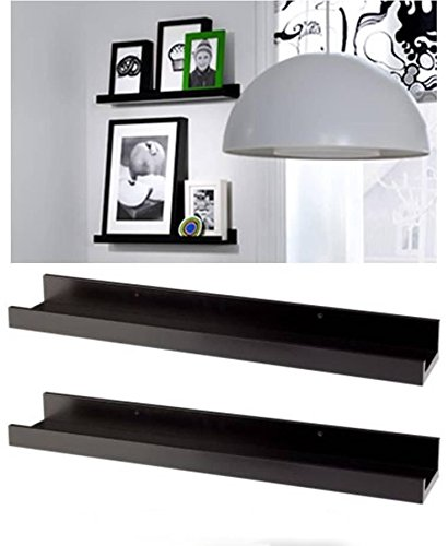 Modern Picture or Frame Floating Ledge 21 3/4 , Black 2 Pack by IKEA (Ikea Picture Shelf)