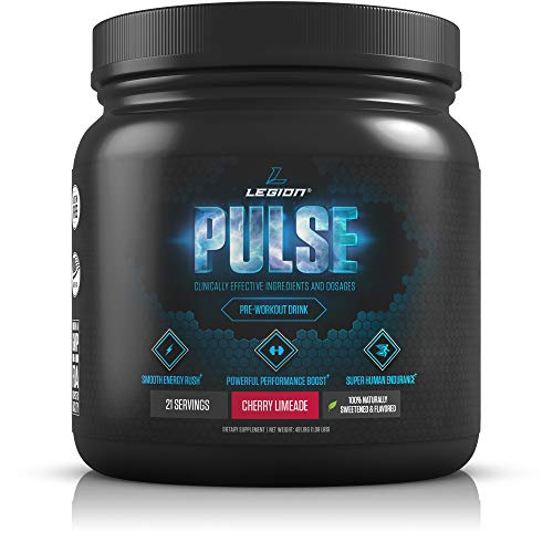 (Legion Pulse, Best Natural Pre Workout Supplement for Women and Men - Powerful Nitric Oxide Pre Workout, Effective Pre Workout for Weight Loss, Top Pre Workout Energy Powder (Cherry)