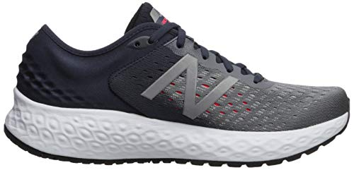 New Balance Men's 1080v9 Fresh Foam Running Shoe, Gunmetal/Outerspace/Energy red, 7 W US by New Balance (Image #7)