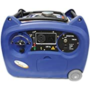 Boliy (3600SIE WH) Blue Inverter Style Portable Generator with Wheel, Handle and Electric Start