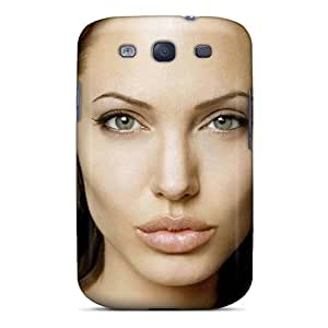 Premium Galaxy S3 Case - Protective Skin - High Quality For Angelina Jolie Portrait