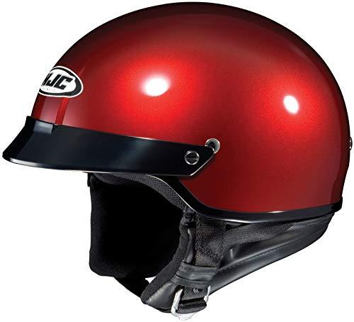 HJC Metallic CS-2N Half (1/2) Shell Motorcycle Helmet - Wine / 2X-Large ()