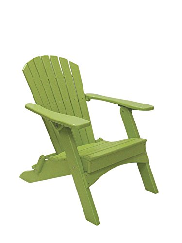 Perfect Choice Folding Adirondack Chair, Lime Green For Sale