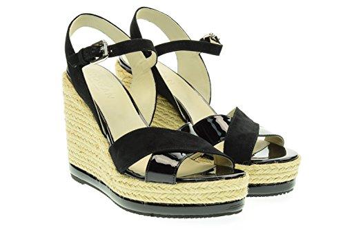 HOGAN sandalia de la mujer de cuña con HXW2860R4602IDB999 Nero