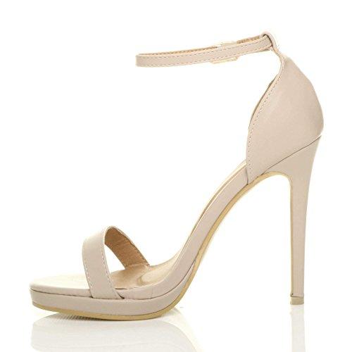 Ajvani There Nude Matte Sandals Women Barely Heel Size High rwz4Sgr