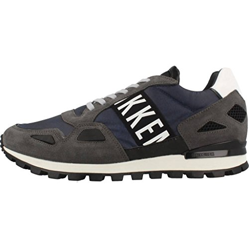 Calzado deportivo para hombre, color gris , marca BIKKEMBERGS, modelo Calzado Deportivo Para Hombre BIKKEMBERGS BKE108522 Gris gris