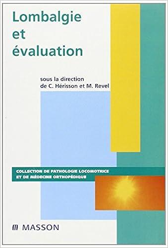 Livres Lombalgie et évaluation pdf, epub