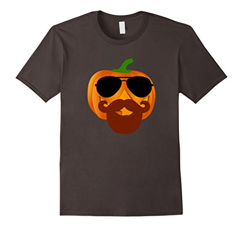 Cool Halloween Costumes With Beards (Mens Jack O'Lantern Disguise Halloween Costume Beard T-Shirt Fun Large Asphalt)