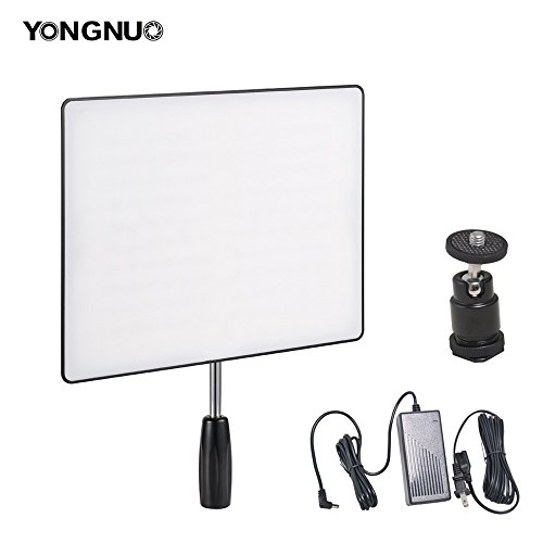 Yongnuo YN600 Air Camera / Camcorder LED Video Light CRI95+ 3200-5500K Portable Continuous Lamp + 60W Power Supply and Ball Head for Canon Nikon Sony Panasonic Wedding Interview Youtube by Bestshoot