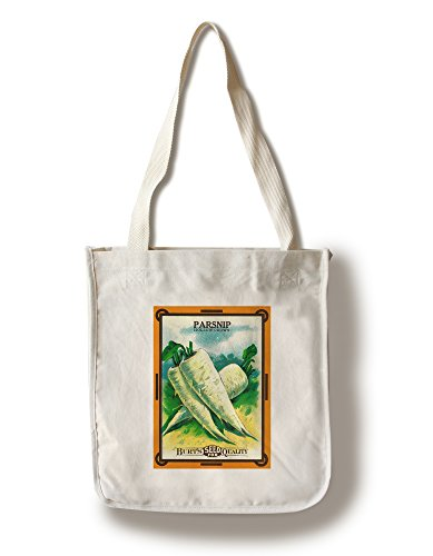Lantern Press Parsnip (Hollow Crown) Seed Packet (100% Cotton Tote Bag - Reusable)
