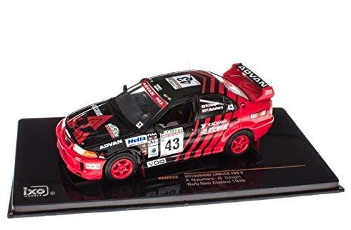 43 Tahara guy Fumio Rally New Zealand # ixo 1//43 Mitsubishi Lancer EVO V 1999 japan import