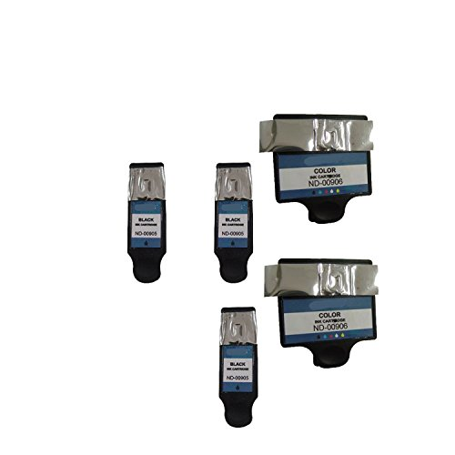 3 x Dell DW905 and 2 x Dell DW906 Compatible Series 20 Combo Pack - 3 Black & 2 Color Ink Cartridges