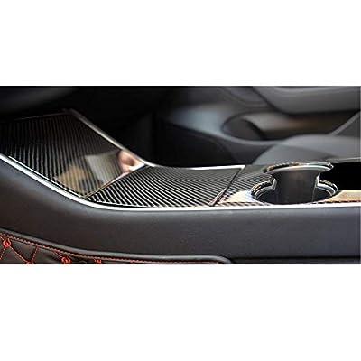 BMZX for Model 3 Car Center Console 3D Epoxy Wrap Kit Protection Carbon Fiber Stickers(3 PCS)