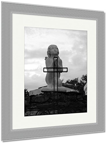 Ashley Framed Prints St Louis Catholic Cemetery New Orleans Louisiana USA, Wall Art Home Decoration, Black/White, 40x34 (frame size), Silver Frame, AG6544552 by Ashley Framed Prints