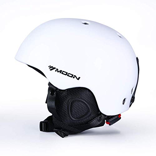 MOON Ski & SnowSports Helmet with Removable Thickened Earmuffs, for Adult and Youth,Women and Men,Skate & Bike & Snowboard & Other ExtremeSports (Renewed)