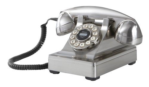 Phone Telephone Crosley - Crosley CR60-BC Kettle Desk Phone with Push Button Technology (Brushed Chrome)