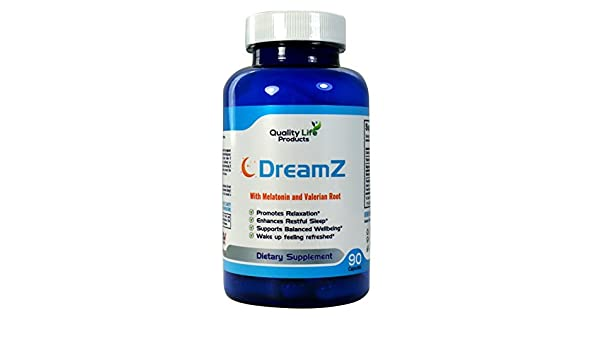 Promotes Deep Sleep. Helps with Insomina, Tinnitus and Sleep Disorders. Melatonin, Valerian, Chamomile - 90 Day Supply by Dreamz: Health & Personal Care