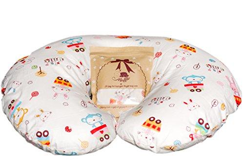 Nursing Pillow Cover by Mafflo | Unisex Hypoallergenic Maternity Cushion Case + Soft Washcloth + Digital Guide with Tips on How Pillows Are Made