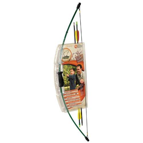 Bear Archery 1st Shot Youth Bow Set – Hunter Green - Safety Glass Target Arrows