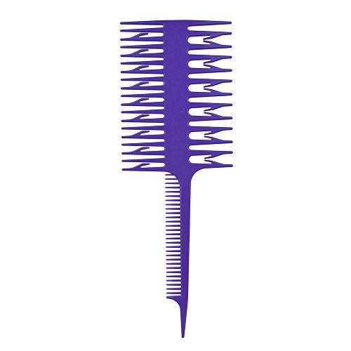 (WIllsa Style Beauty Salon Barber Hair Comb With Fish Tail Bone Shape Comb Dyeing Tool)