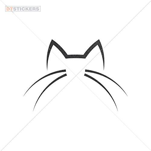 Metallic Images (Vinyl Sticker Decals Domestic Cat Sports Bike lilac image playing fur (4 X 2,76 Inches) Metallic Black)