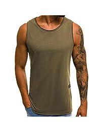 Sikye Men's Muscle T-Shirt,Summer Sleeveless T-Shirt Gym Wear Bodybuilding Workout Athletic Training Tank Top