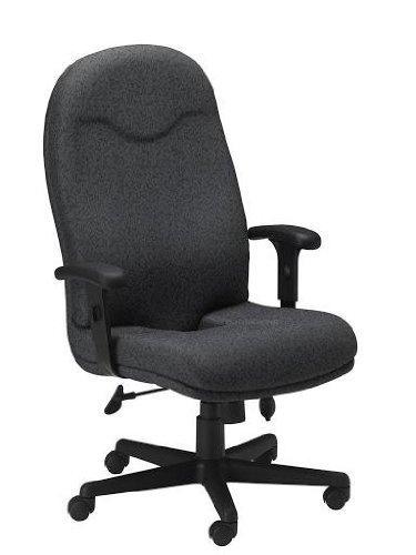 Mayline 9413AG2110 Comfort Series Executive High-Back Chair, Gray Fabric