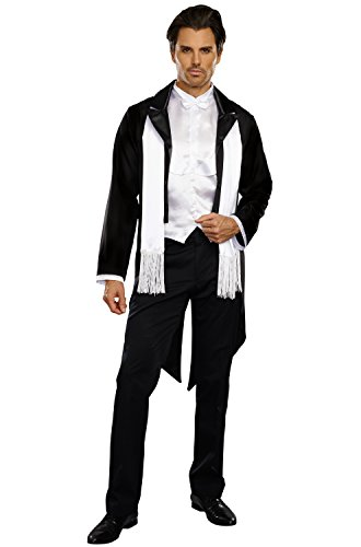 Dreamgirl Men's Party At Gatsby's Costume, Black/White, X-Large
