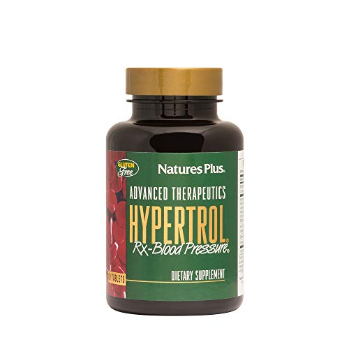 NaturesPlus Advanced Therapeutics Hypertrol Rx Blood Pressure - 60 Vegetarian Tablets - Magnesium & Chromium Supplement with Botanical Herbs - Gluten-Free - 30 Servings